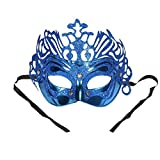 Máscara Antifaz Veneciana Plástico Azul Disfraz para Halloween