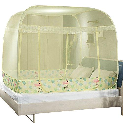 LSS Bauform Kostenlose Netze Jurte 1,8m Bett Doppelbett Oberseite oben Reißverschluss 1,5Meter Drei Anschlüsse 1.2Schlafraum für Studenten 1.2*2m