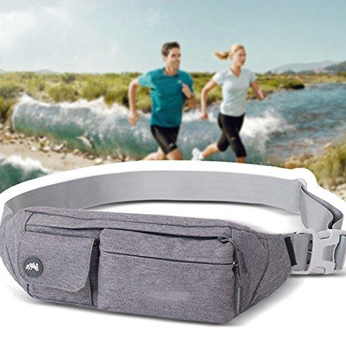 Wildlead Unisex Outdoor Sport Running Bag Waist Pack Wandern Camping Fitness Casual Funktionelle Fanny Gürtel Taschen Grau