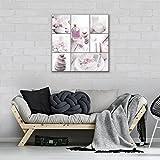 DekoShop Leinwandbild Wandbild Kunstdruck SPA AMDPP11827O2 O2 (80cm. x 80cm.) Canvas Wandbilder XXL Überraschungsaufkleber Gratis!