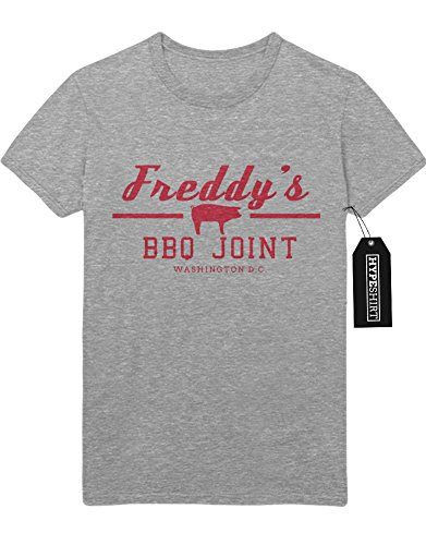 T-Shirt Freddy`s BBQ Joint House of Cards H549340 Grau M