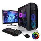 Megaport Super Méga Pack - Unité Centrale PC Gamer Complet Intel Core i7-8700 • Ecran LED 24' • Clavier et Souris Gamer • GeForce GTX1060 6Go • 16Go • Win 10 Ordinateur de Bureau PC Gaming