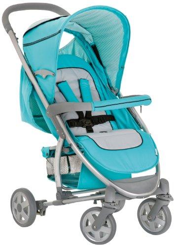 Imagen principal de Hauck Malibu - Carrito convertible para bebé todo en uno, color turquesa y gris