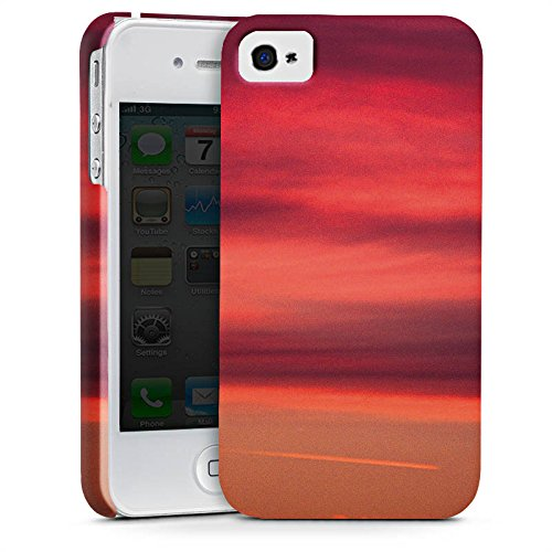 Apple iPhone X Silikon Hülle Case Schutzhülle Sonnenuntergang Himmel Romantik Premium Case glänzend