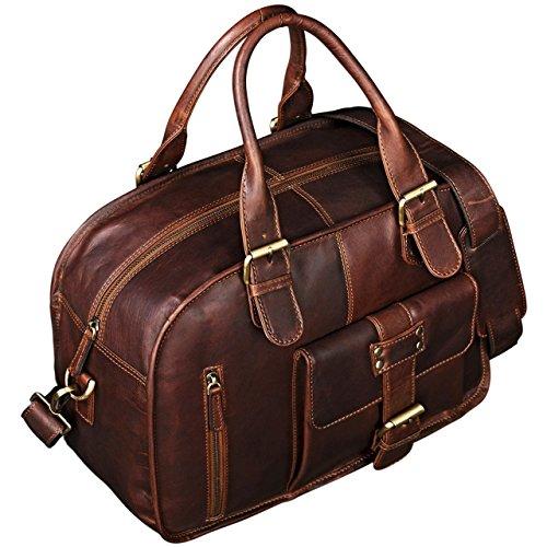 98715b84d0 STILORD 'Dominique' Cartable en cuir pour femmes et hommes DEUX Classeurs  A4 Mallette Besace Sac en ...