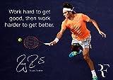 Motivation?Roger Federer # 6?Motivation?Joueur de tennis monde N ° 1?Panneau A3Poster?Citation Poster Photo, Sport?Tennis Poster