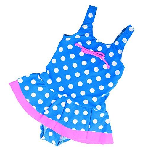 LORIN Mädchen Kinder Badeanzug Beachwear Bademode Kinder Badeanzug 2–7Jahre L44 Gr. 3 Jahre, blau/weiß