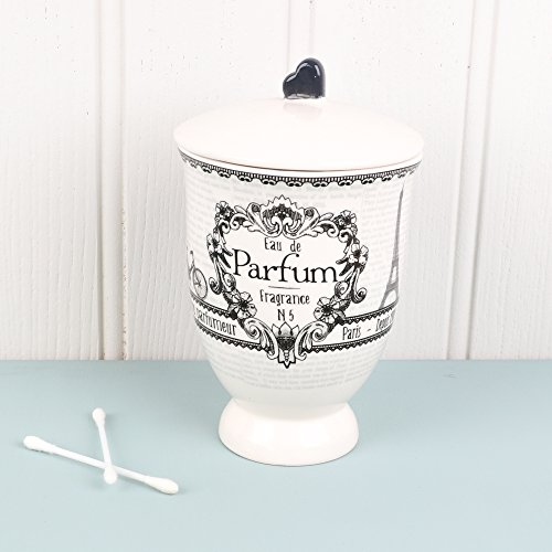 Eau de Parfum, Wattestäbchen Aufbewahrung Pot Dekorative Aufbewahrung Lösung für das Badezimmer.–H inkl. Griff 16,5x Umfang 10cm