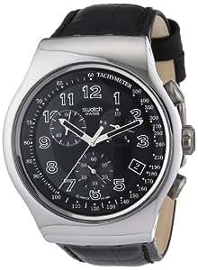 Swatch Analog Black Dial Men's Watch - YOS440