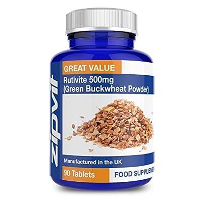 Rutin Rutivite   Green Buckwheat Powder   90 + 90 Free Tablets   3 Months Supply by Zipvit