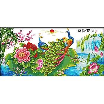 Little Big Shop Kreuzstich Stickpackung Stickbild Stickvorlage Vordruck Sticken Meer 37/×46cm