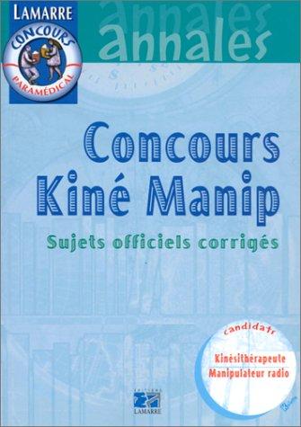 Concours kiné 1999. Sujets officiels corrigés
