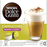 NESCAFÉ DOLCE GUSTO Cappuccino Skinny/Light Coffee Pods, 16 Capsules (8 Servings)