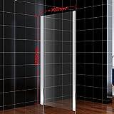 Duschwand 70x185cm Seitenwand Glaswand Duschabtrennung für Duschkabine