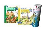 Ravensburger Niños Divulgación 4-7 Años Wir entdecken la Castillo del caballero + Activo-folleto con niños Mapamundi Póster by Collectix
