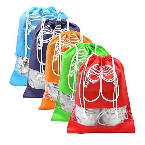 MMBOX Portable Voyage Sacs à Chaussures étanche à la poussière étanche à Chaussures Sacs de Rangement Gain de Place (Lot de 2)