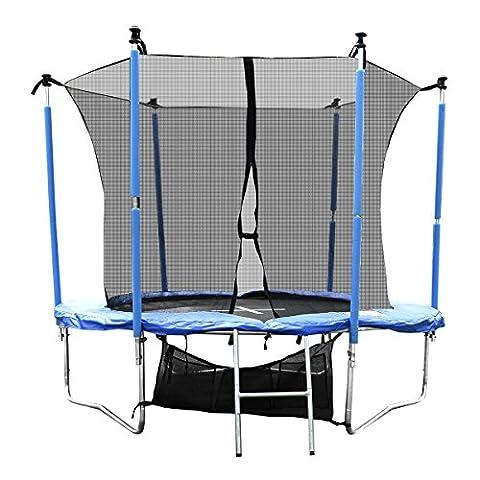 Sports Trampoline Gartentrampoline Outdoor Komplettset inkl. Sicherheitnetz,Leiter,Schuhtasche und Regenabdeckplane diverse Größen