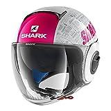 SHARK Motorradhelm Hark Nano Tribute RM, Schwarz/Lila, Größe M