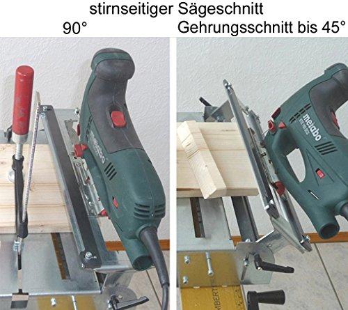 Stichsägetisch Trenn-Biber 012L+ Bosch Metabo Festool u. 3 lange Holz T-Schaft Stichsägeblätter für Stichsägen als Laminat Schneider, Sägestation - 5