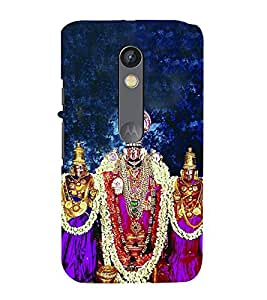 FIOBS Lord Venkateswara Statue Designer Back Case Cover for Motorola Moto X Play