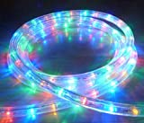 MULTICOLOUR LED OUTDOOR ROPE LIGHT WITH 8 FUNCTIONS / 8 METRES WITH 288 LED'S - CHASING, STATIC, ETC ** IDEAL FOR GARDEN DECKING, MOOD LIGHTING, WEDDINGS **
