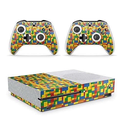 Gizmoz n Gadgetz GNG Xbox One S Lego Console Skin Decal Sticker + 2  Controller Skins