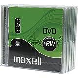 Maxell M174 - Caja de 5 DVD+RW vírgenes, 4.7 GB