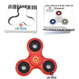 LA TECH - RED Tri Fidget Hand Spinner - roulements ultra rapides - jouet grand cadeau - Rouge ...