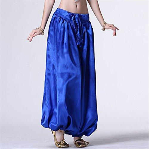 Bauchtanz Hüfttuch Damen Tanzen Kleider Bloomers Bauchtanz Hose Harem Hose Tanzen Costume Dark Blue