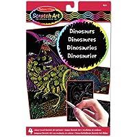 Melissa & Doug 15957 - Imágenes scratch art con revelación de colores: dinosaurios