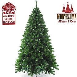 Bakaji Montezuma, albero di Natale artificiale da 150 cm, 210 cm e 240 cm