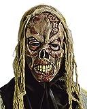 Horror-Shop Fetzen Zombie Maske für Halloween