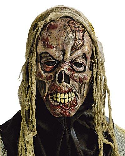 (Horror-Shop Fetzen Zombie Maske für Halloween)
