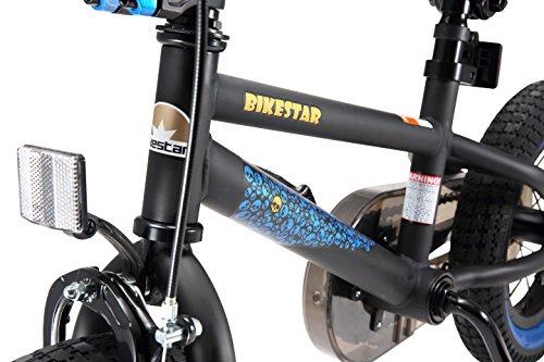 BIKESTAR Bicicletta Bambini 3-4 Anni da 12 Pollici ★ Bici per Bambino et Bambina BMX con Freno a retropedale et Freno a Mano ★ Nero & Blu - 7