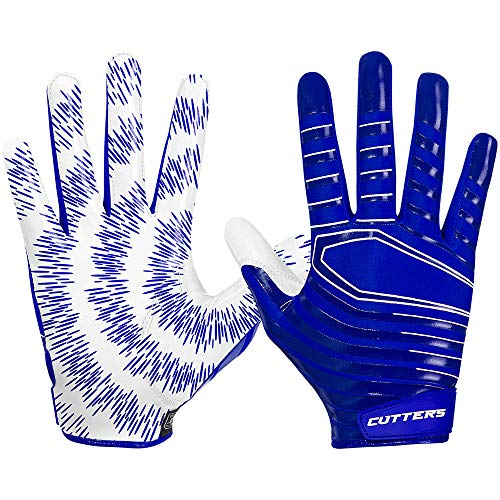 Cutters Gloves S252 Rev 3.0 American Football Receiver Handschuhe Modell 2018 - Royal Gr. S