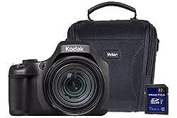 Kodak Pixpro Az901 Astro Zoom Bridge Camera With 32 Gb Sd Card & Case - Black