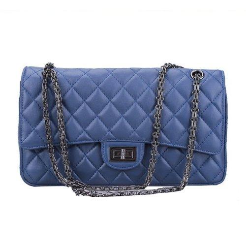 Dissa Q0225 donna Borse a spalla,Borse a tracolla32x19x8 cm (B x H x T) Blue