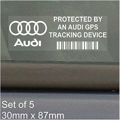 5-x-audi-gps-tracking-device-security-window-stickers-87x30mm-r8a4tta8a3a5s5rs-4rs-6s4a6carvan-alarm