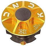 Steuersatzkappe KCNC Gefräst Farbe Gold