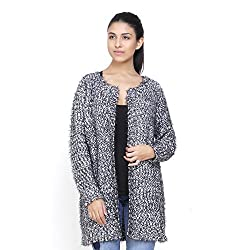 MansiCollections Grey Casual Cardigan For Women