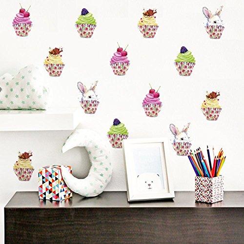 Eiscreme-Wand-Aufkleber-Festival-Dekor-wasserdichtes selbstklebendes entfernbares DIY (Für Kleinkind-bett-blatt-satz Mädchen)
