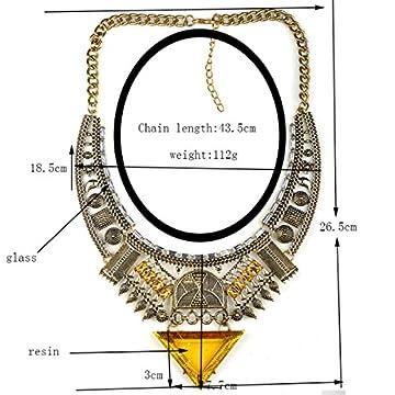 MSNHMU Retro Joyas De La India Collar De Diamantes Triángulo De Egipto 4