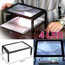 SODIAL(R) Lupa Grande Manos Libres con Luz LED para Lectura etc.