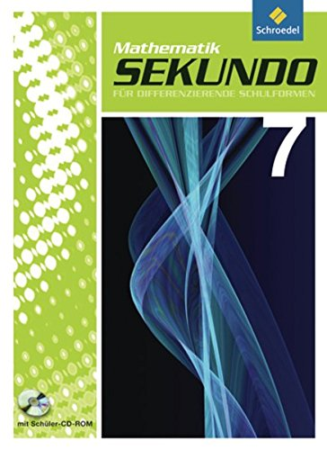 Preisvergleich Produktbild Sekundo: Mathematik für differenzierende Schulformen - Ausgabe 2009: Schülerband 7 mit CD-ROM