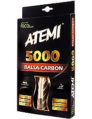 Atemi 5000 Tischtennisschläger (Kohlefaser/Balsaholz) Profi Tischtennisschläger für maximale Geschwindigkeit, Rotation und Kontrolle | Anfängerfreundlich, geeignet für Wettkampf | 7 Schichten