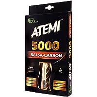 Pala de Ping Pong Atemi 5000 (Madera de Balsa y Carbono) Raqueta Profesional de Tenis de Mesa Para Velocidad, Rotación y Control Óptimos  Grado de Competición, Principiante y Amistoso   7 Capas (Anatómico)