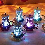 TIREOW Weihnachten 12 Stück Weihnachtskerze mit LED Teelicht Kerzen für Weihnachtsdekoration Party