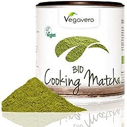 BIO Matcha Tee – Cooking | 200g | BIO Qualität | Smoothies – Shakes – Matcha Latte | Hochwertige Aroma-Schutzdose | OHNE Zusätze | Vegavero: from Nature - with Passion - for You!