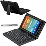 Navitech Faux Leather Micro USB Keyboard Case / Cover including Built In stand & Stylus Pen For The Samsung Galaxy Tab A 9.7 / Samsung Galaxy Tab S2 9.7 / Samsung Galaxy Tab E 9.6