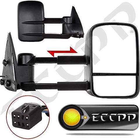 ECCPP Towing mirrors For Chevy Chevrolet Silverado Tahoe Suburban GMC Sierra Yukon XL Black Power Heated Towing Side Mirrors by ECCPP